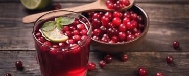jus de cranberry eau + citron