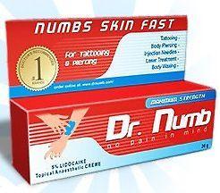 dr numb crème import USA